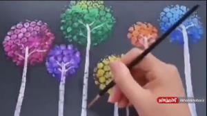 خلاقیت در کشیدن نقاشی روی مقوا