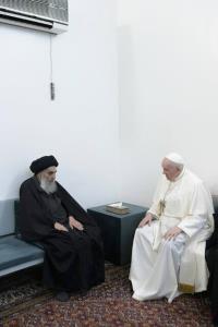 بیانیه دفتر آیتالله سیستانی درباره دیدار با پاپ