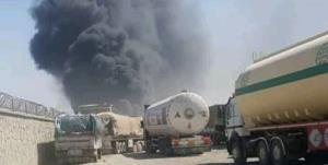 تصاویر آتش سوزی در گمرک «فراه» در مرز افغانستان