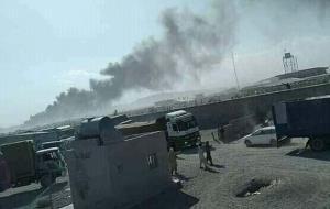 آتش سوزی گمرک ابونصر فراهی افغانستان در مرز ایران مهار شد