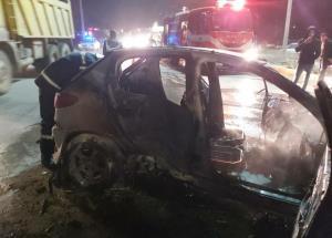 تصادف زنجیرهای 8 خودرو حادثه آفرید