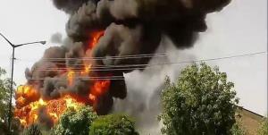 نشت گاز شهری باعث انفجار شد