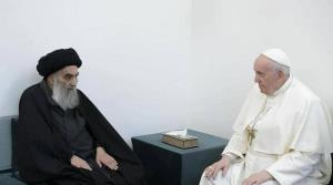 دیدار پاپ فرانسیس با آیت الله سیستانی پایان یافت