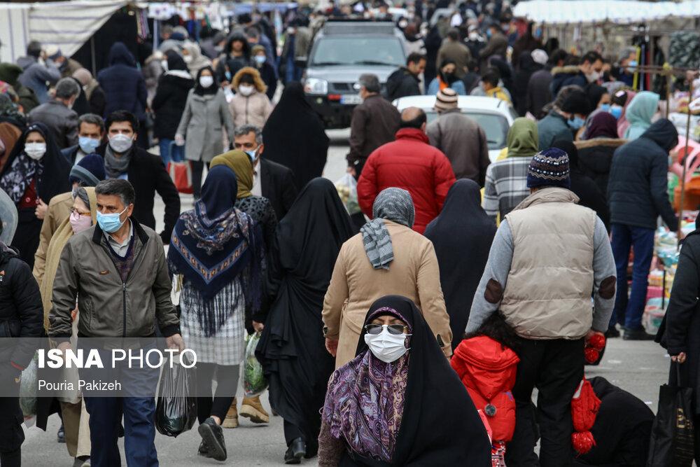 عکس/ گشت و گذار کرونا در جمعه بازار همدان