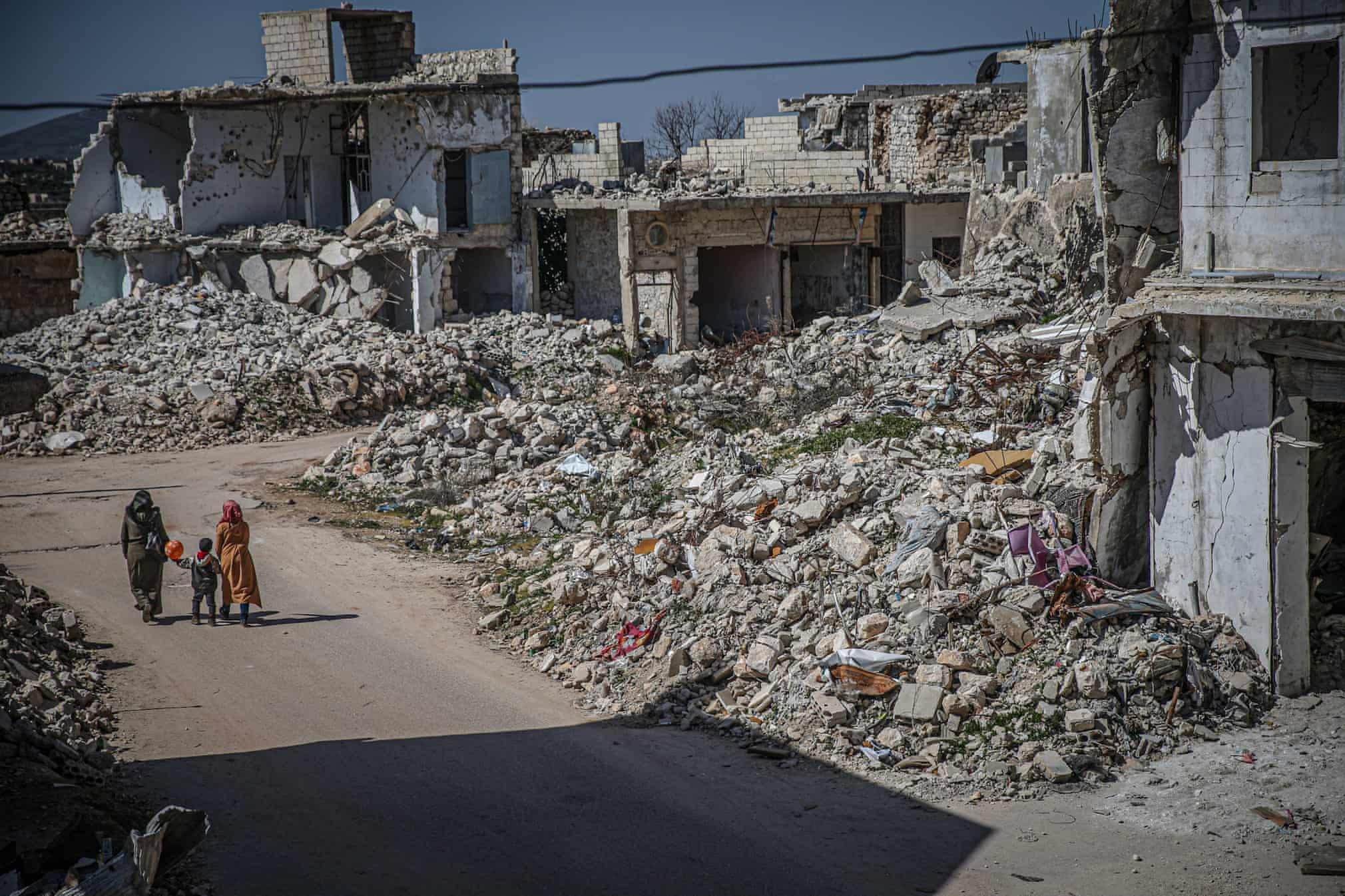تصویری تاسف بار از لاشه کاشانه ها در سوریه