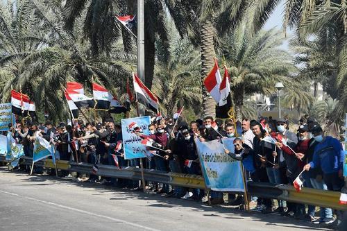 استقبال از پاپ فرانسیس در شهر بغداد