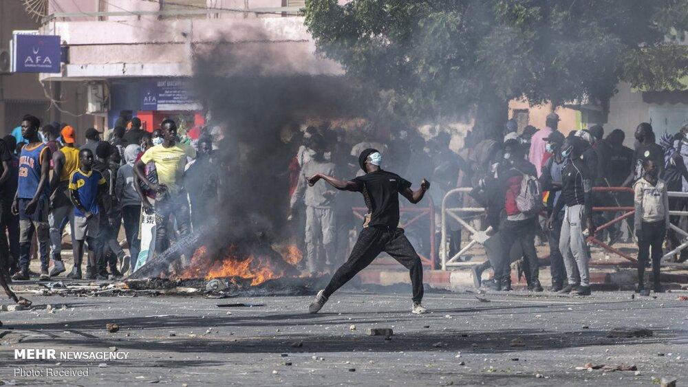درگیری معترضان در سنگال با پلیس