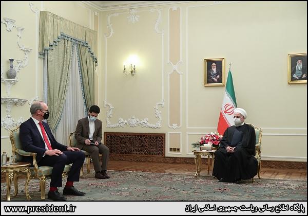عکس/ دیدار وزیر خارجه ایرلند با رئیس جمهور