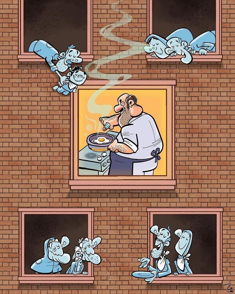 کاریکاتور/ وضعیت مردم در گرانی