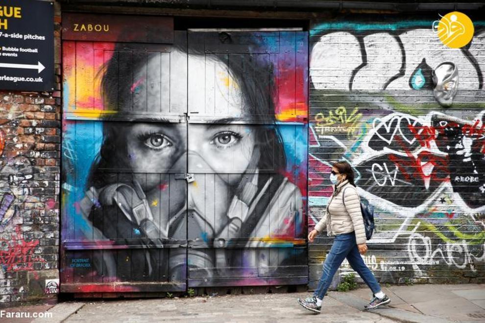 عکس/ نقاشیهای دیواری با الهام از کرونا