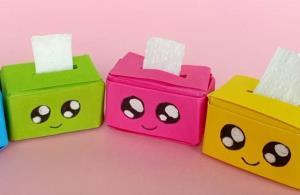 آموزش ساخت جعبه دستمال کاغذی با ترفند اوریگامی