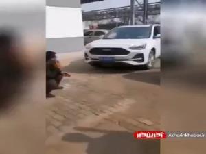 فرار به موقع از تصادف!