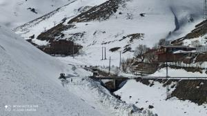 جاده پیست اسکی تاریکدره بازگشایی شد