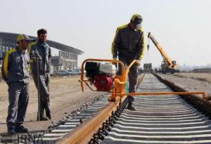 ۵۰ کیلومتر از پروژه راهآهن اردبیل-میانه ریلگذاری شد