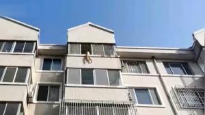آویزان شدن کودک پنج ساله از پنجره در زمان تنها ماندن در خانه
