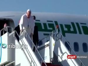 استقبال بارزانی از پاپ فرانسیس در سفر به اربیل عراق