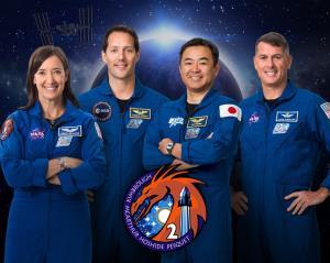 چهار فضانورد به ایستگاه فضایی میروند