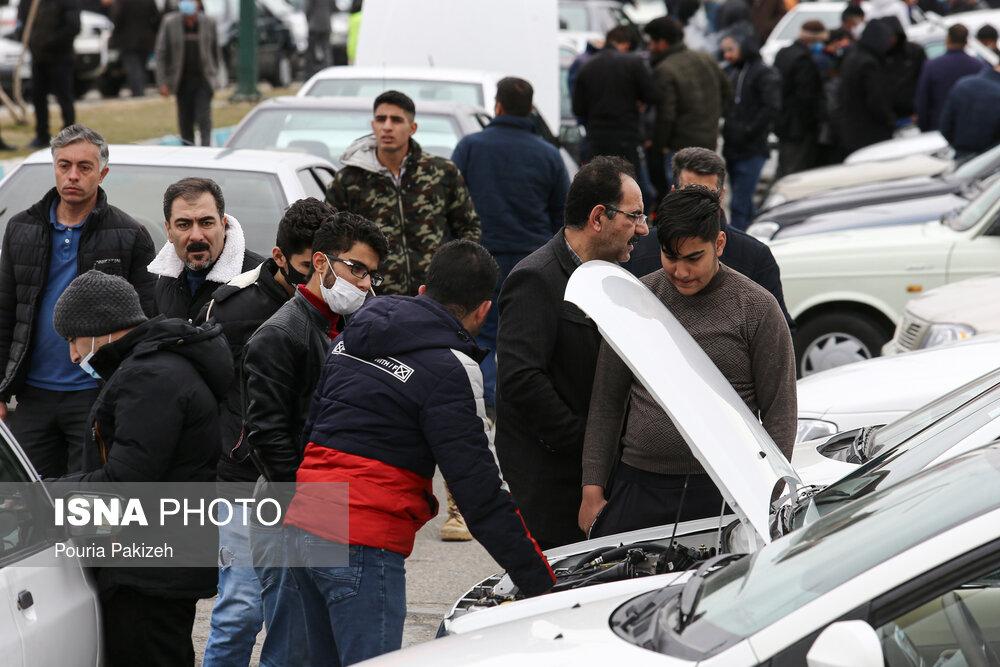 عکس/ بازار کرونایی شهر ماشین همدان