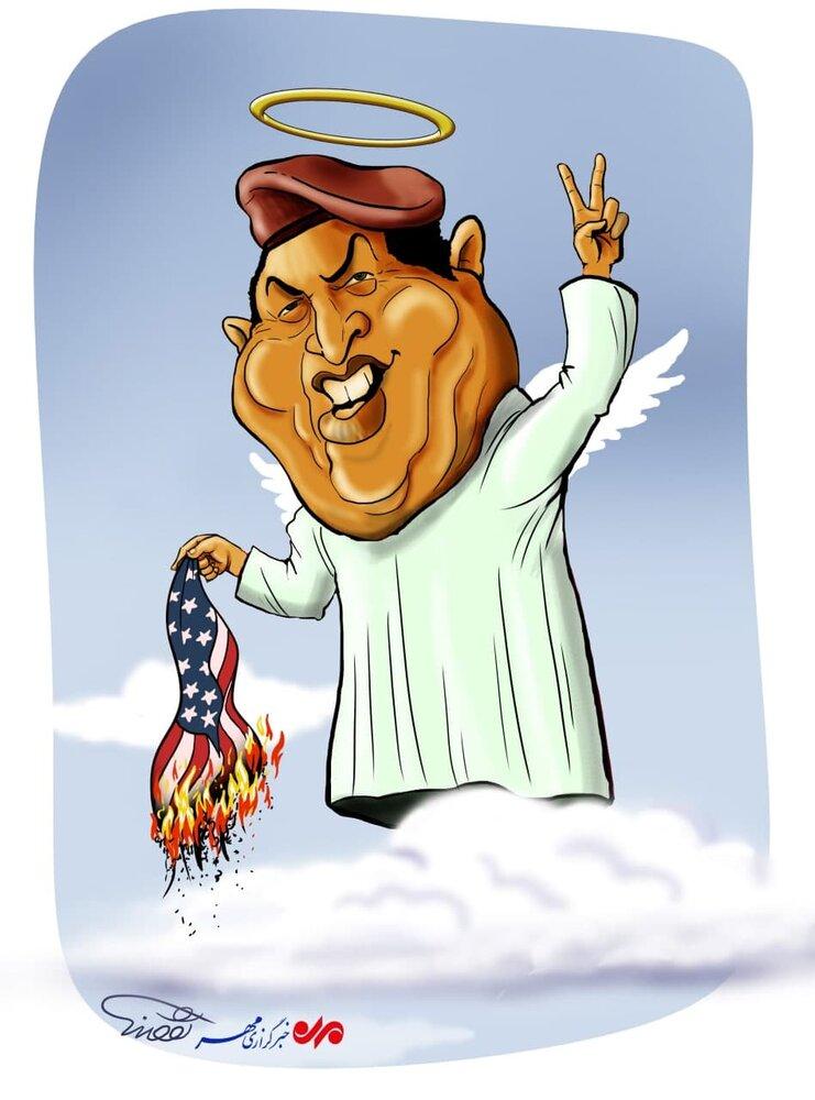 کارتون/ سالگرد درگذشت هوگو چاوز، رییسجمهور ونزوئلا