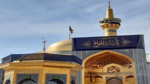 حرم مطهر رضوی در آستانه شهادت امام کاظم(ع) سیاهپوش شد