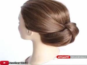 شنیون ساده سریع و زیبای موهای کوتاه