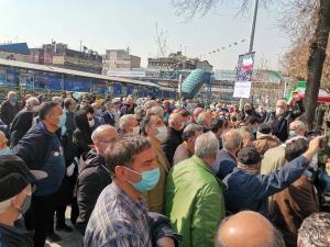 بازداشت یک بازنشسته در تجمع روز گذشته
