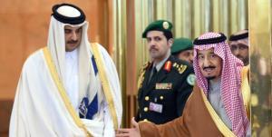 پیام شاه سعودی به امیر قطر