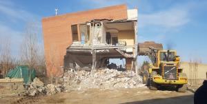 تخریب باغویلای منتسب به یکی از متولیان تهیه طرح منفصله توس