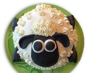 آموزش تزئین کیک به شکل گوسفند