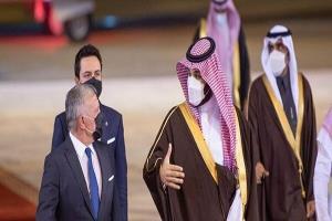 شاه اردن و ولیعهد بحرین با ولیعهد سعودی دیدار کردند