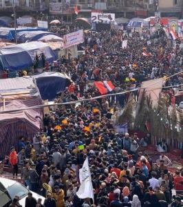معترضان عراقی پل های استان ذی قار را بستند