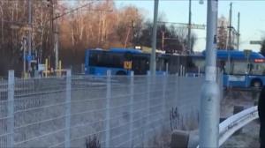 لحظه وحشتناک تصادف قطار با اتوبوس