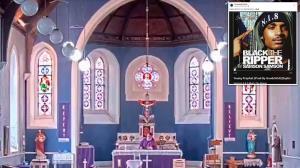 گاف عجیب کشیش حین پخش دعا در کلیسا!