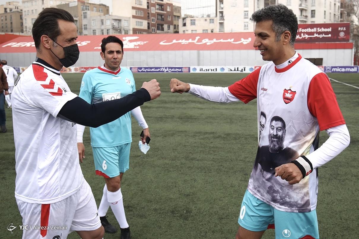 عکس/ خوش و بش کرونایی عادل فردوسی پور و علی کریمی