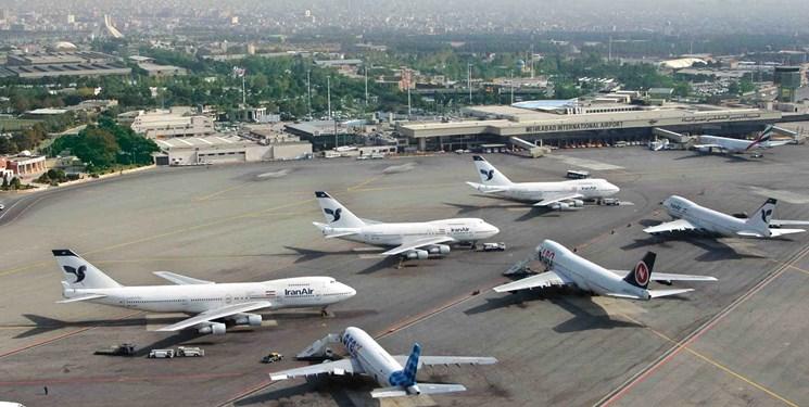 کاهش 25 درصدی نشست و برخاست هواپیماها