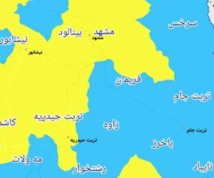 وضعیت مشهد از لحاظ رنگبندی کرونایی وزارت بهداشت زرد است