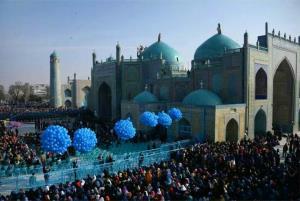 تجلیل سال نو  در مزار شریف