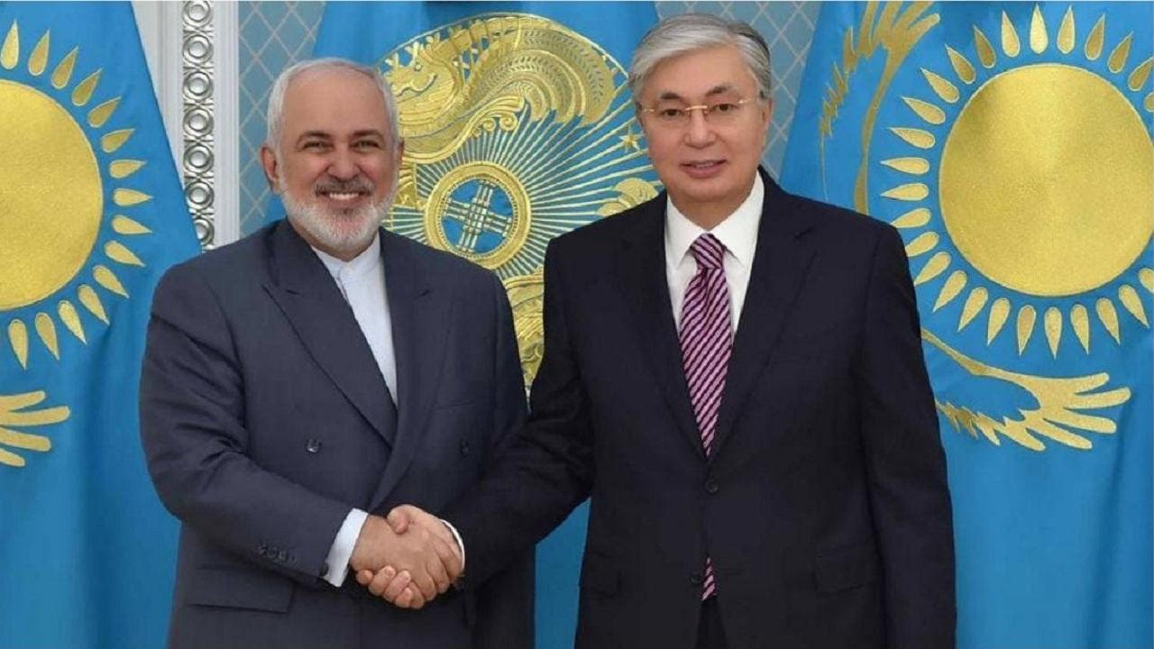 رئیس جمهور قزاقستان در دیدار با ظریف: ایران شریک کلیدی در منطقه است