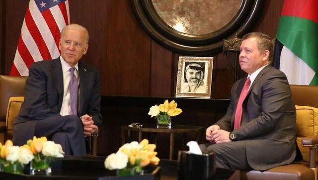 اعلام حمایت بایدن از پادشاه اردن