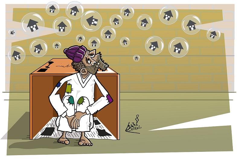 کاریکاتور/ بازار حباب ها