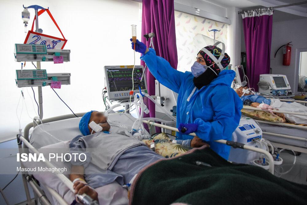 عکس/ بیمارستان کوثر سمنان در وضعیت قرمز کرونایی