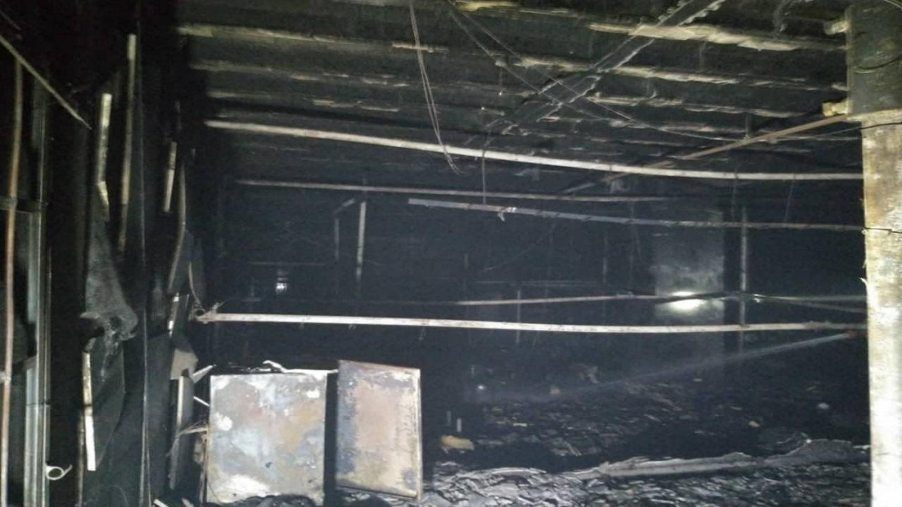 جان باختن یک کارگر در حادثه آتش سوزی