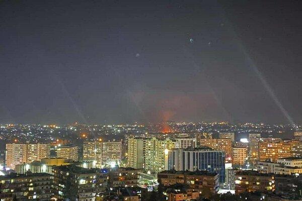رهگیری جنگنده اسرائیل توسط پدافند هوایی سوریه
