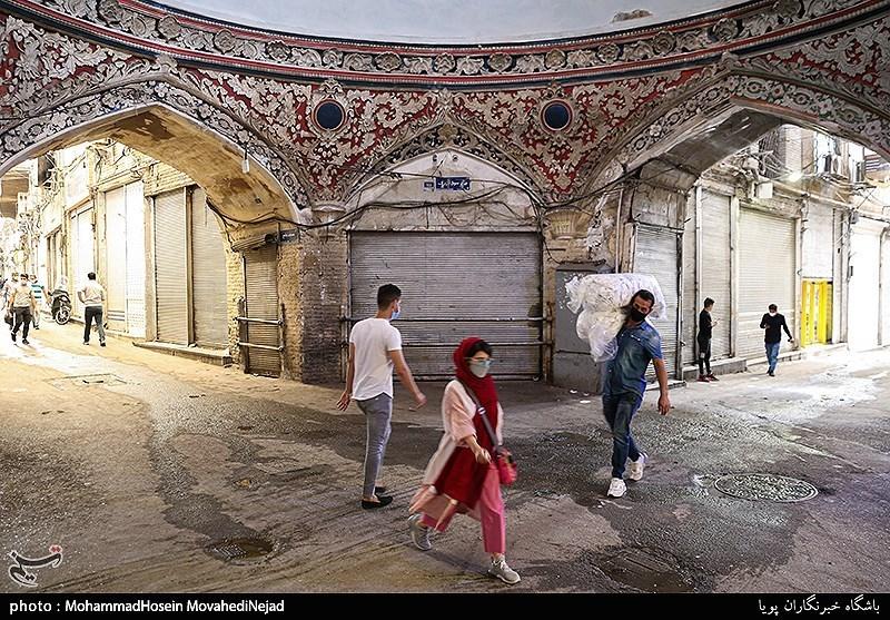 عکس/ تعطیلی بازار تهران در موج چهارم کرونا