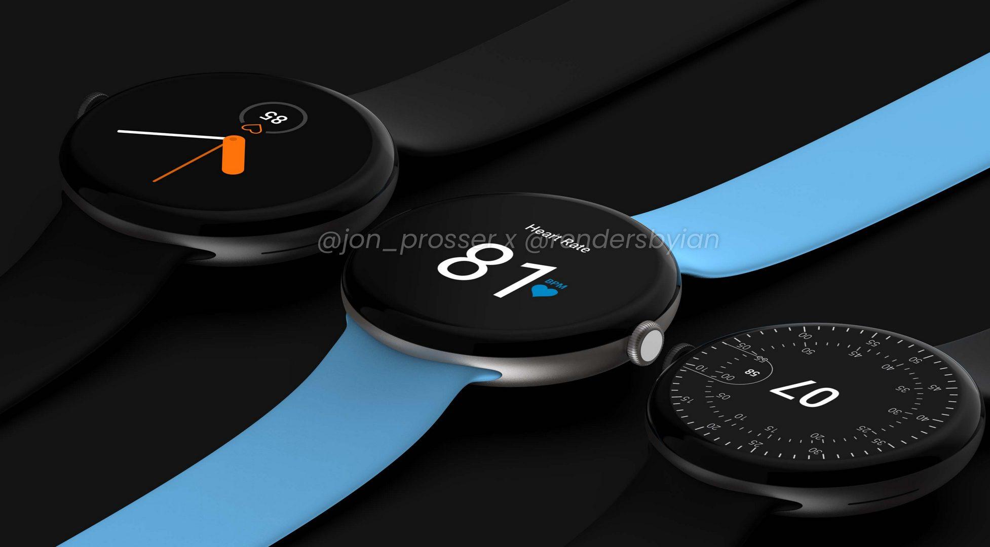 رندرهای ساعت هوشمند پیکسل واچ گوگل