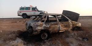 آتشسوزی پراید در محور شاهرود-میامی؛ ۴ نفر مصدوم شدند