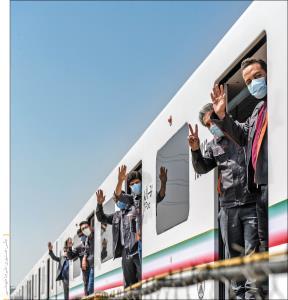 قطار ایرانی مترو راه افتاد