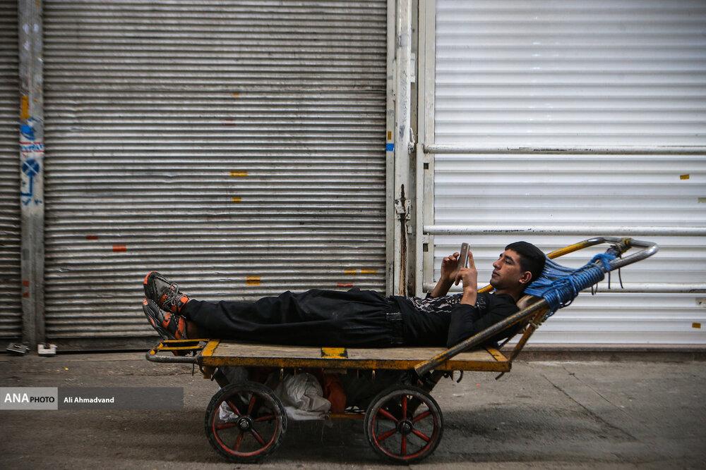 عکس/ تعطیلی بازار تهران در پیک چهارم کرونا