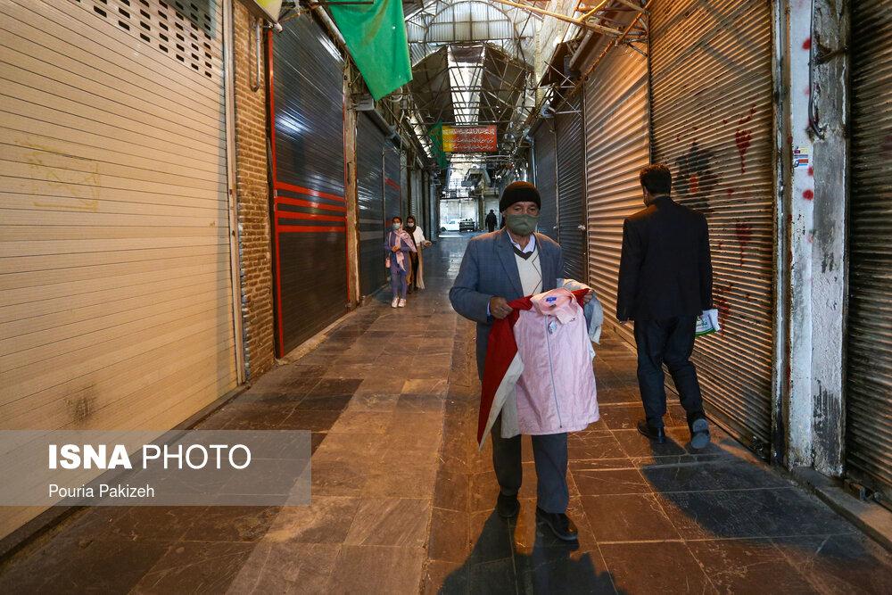 عکس/ تعطیلی بازار همدان و اردبیل در پیک چهارم کرونا