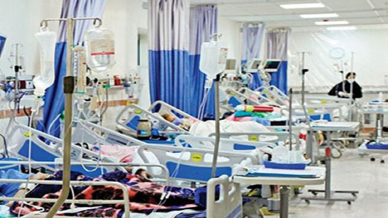 تختهای بخش کرونای بیمارستان توحید جم پر شد